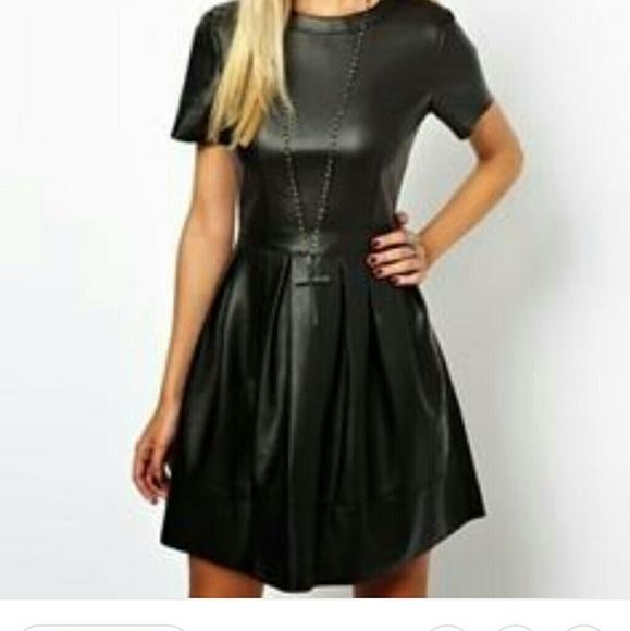 c0ea823f5a ASOS Dresses   Skirts - Asos faux leather skater dress